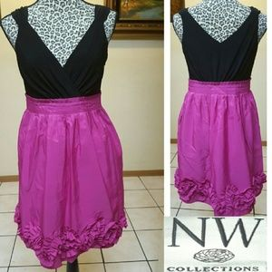 NW Collections Empire Waist Party Dress, Size 4